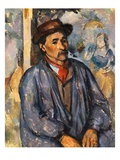 Man in a Blue Smock Giclee Print by Paul Cézanne