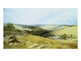 Hot Day in the Harvest Field Giclee Print by William Gosling