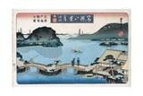 Twilight, Atami from the Series Eight Views of Famous Places Giclee Print by Toyokuni II