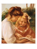 The Alphabet (Jean and Gabrielle) Giclee Print by Pierre-Auguste Renoir