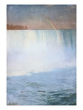 Waterfall and Rainbow: Niagara Giclee Print by Albert Bierstadt