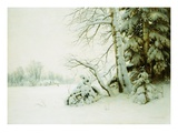 Winter Morning Giclee Print by Gavriil Pavlovich Kondrachenko