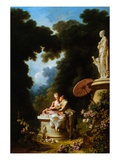 Love Letters Giclee Print by Jean Honore Fragonard