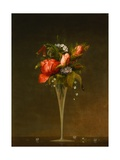 Still Life with Wine Glass Giclee Print by Martin Johnson Heade