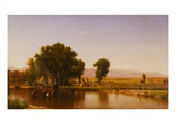 Crossing the Ford, Platte River, Colorado Giclee Print by Thomas Worthington Whittredge