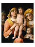 The Holy Family with Saint Elizabeth and the Infant Saint John the Baptist Giclee Print by Andrea Mantegna