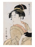 A Bust Portrait of the Waitress Okita of the Naniwaya Teahouse Giclee Print by  Utamaro