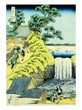 The Aoigaoka Falls in the Eastern Capital, from the Series A Journey to the Waterfalls of All the P Giclee Print by Katsushika Hokusai