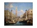 Piazzetta Dal Molo, Venice Giclee Print by Samuel Prout