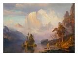 Rocky Mountains Giclée-tryk af Albert Bierstadt