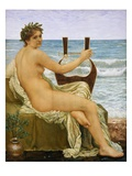 Lute Player by the Sea Giclee Print by Henry Holliday