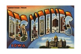 Greeting Card from Des Moines, Iowa Giclee Print