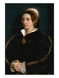 Portrait of a Woman by Hans Holbein the Younger Giclee Print by Geoffrey Clements