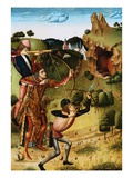 The Shooting of the Bull on Monte Gargano Giclee Print by  School of Fernando Gallego