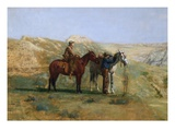 Detail of Cowboys in the Badlands Giclee Print by Thomas Eakins