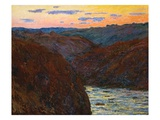 Creuse Valley at Sunset Giclee Print by Claude Monet