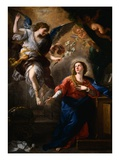 The Annunciation (panel) Lámina giclée por Luca Giordano