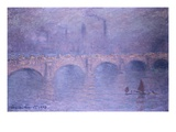 Waterloo Bridge, Hazy Sun Giclee Print by Claude Monet