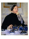 Lady at the Tea Table Giclee Print by Mary Cassatt
