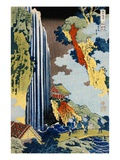Ono Waterfall Along the Kisokaido, from the Series A Journey to the Waterfalls of All the Provinces Giclée-Druck von Katsushika Hokusai