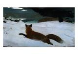 Caccia alla volpe Stampa giclée di Winslow Homer