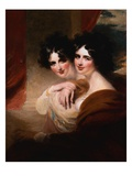 Congratulations: Portraits of Two Ladies Before a Colonnade Giclee Print by George Henry Harlow