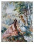 In the Meadow Giclée-tryk af Pierre-Auguste Renoir