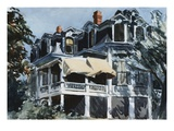 The Mansard Roof Giclee Print by Edward Hopper