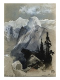 South Dome Yosemite Giclee Print by Thomas Moran