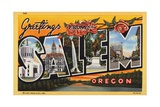 Greeting Card from Salem, Oregon Giclee Print