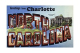 Greeting Card from Charlotte, North Carolina Giclee Print