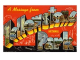 Postcard of Yellowstone National Park Giclee Print by  Lake County Museum