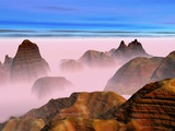 Mist over Rock Formations Photographic Print by Cindy Kassab