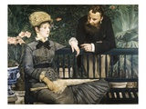 In the Conservatory Giclee Print by Édouard Manet