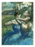 Three Dancers Premium Giclee Print by Edgar Degas