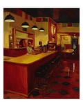 Bishop's Cafe Premium Giclee Print by Pam Ingalls