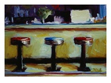 Bar Stools, Salem Premium Giclee Print by Pam Ingalls