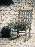 Rosemarie's Chair, Cracked Photographic Print by Kim Koza