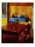 Table in Sorrento Giclee Print by Pam Ingalls