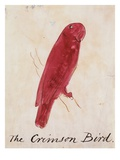 The Crimson Bird Premium Giclee Print by Edward Lear