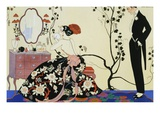 The Powder Puff Giclee Print by Georges Barbier