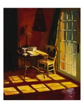 Lael's Desk Giclee Print by Pam Ingalls