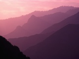 Foggy Hills in Sequoia National Park Photographic Print by Bill Ross