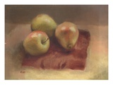 Apples and a Pear Lmina gicle por Robert McIntosh