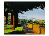 View of the Italian Countryside from a Park Path by Anne Belov Giclee Print by A. Belov