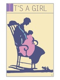 It's a Girl Giclee Print by Steve Collier