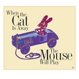 When the Cat's Away the Mouse Will Play Lámina giclée por Collier, Steve