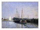 Recreational Boats Giclee-trykk av Claude Monet