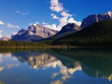 Mountains Reflecting in Lake Photographic Print by Robert Glusic