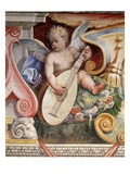 Angel Playing a Lute from the Salon of the Muses in the Villa Medici in Florence Giclee Print by Araldo Luca